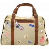 Yoshi Hope Springs Stamp Detail Applique Weekend Bag / Holdall