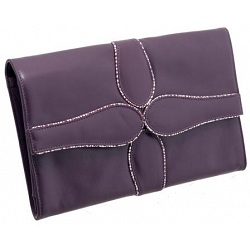 Yoshi Lawton Flap Over Leather Clutch Bag / Evening Bag