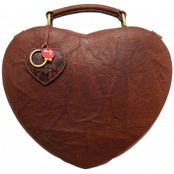 Yoshi Love Heart Leather Grab Bag
