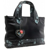 Yoshi Hampton Love Letter Print Leather Grab Bag / Handbag
