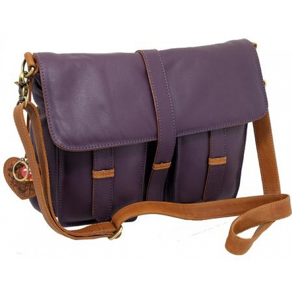 Yoshi Lynbrook Flap Over Leather Satchel / Shoulder Bag