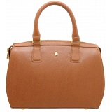 Yoshi Margot Cross-Grain Leather Zip Top Grab Bag / Handbag