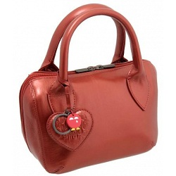 Yoshi Marylebone Dual Zip Around Mini Leather Metallic Grab Bag