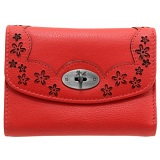 Yoshi Maryport Leather Purse with Cut-Out Flower Detail