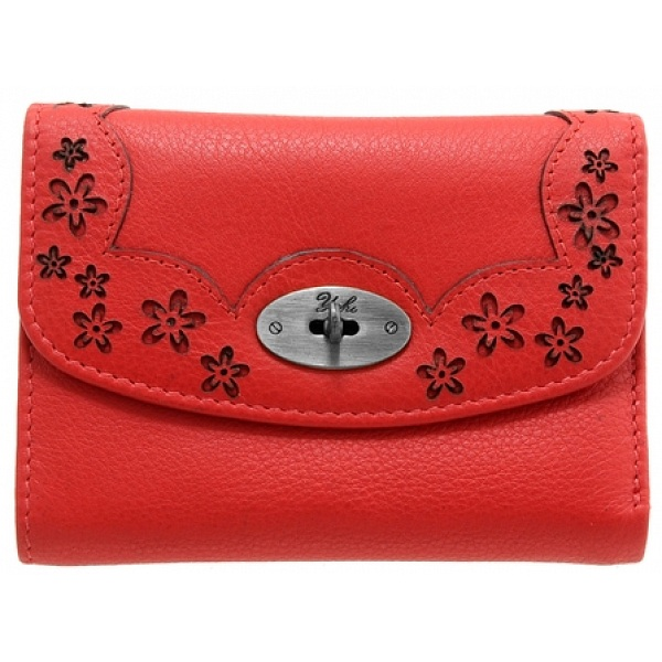 a30392b085 Yoshi Maryport Leather Purse with Cut-Out Flower Detail