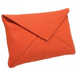 Yoshi Roxy Leather Envelope Clutch Bag / Evening Bag