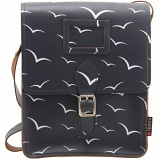 Yoshi Rushmore Bird Print Leather Across Body Bag / Satchel