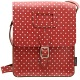 Yoshi Rushmore Red Polka Leather Across Body Bag / Satchel