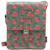 Yoshi Rushmore Rose Print Across Body Leather Satchel