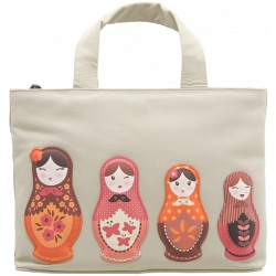 Yoshi Hampton Russian Doll Limited Edition Leather Grab Bag / Picturebag Handbag - Y26-RD