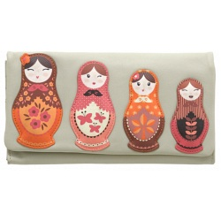 Yoshi Russian Doll leather picture purse Y1280-RD