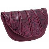 Yoshi Veda Python Trim Shell Clutch Bag / Evening Bag