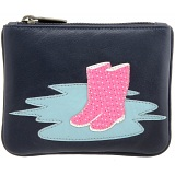 Yoshi Wellies Applique Leather Zip Coin Purse