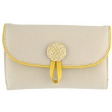 Yoshi Wissage Leather Flapover Purse With Zip Coin Pocket