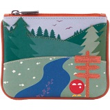 Yoshi Yoshi-Mite National Park Applique Leather Zip Top Coin Purse