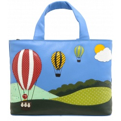 Yoshi Hampton Limited Edition Balloons Up In The Air Leather Handbag