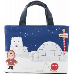 Yoshi Its Cold Outside Leather Applique Grab Bag Y26-NP