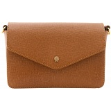 Yoshi Renner Cross-Grain Leather Shoulder Bag / Handbag