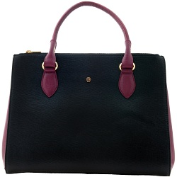 Yoshi Pacquin Cross-Grain Leather Tote Bag