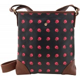 Yoshi Garner Canvas Across Body Bag with Leather Trim (Yoshi Print)