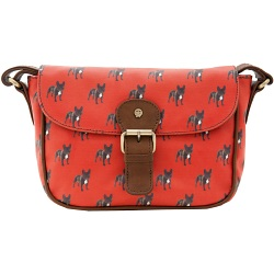 Yoshi Kitsch Canvas Cartridge Bag with Leather Trim (Dog Print)