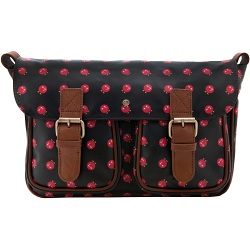 Yoshi Monaghan Canvas Satchel with Leather Trim (Yoshi Print)