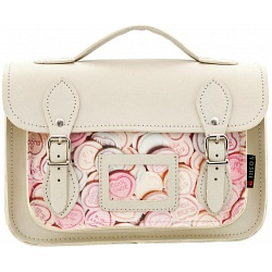 Yoshi Dewhurst Love Hearts Print Leather Satchel / Small Work Bag