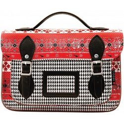 Yoshi Dewhurst Navajo Print Leather Satchel / Small Work Bag