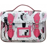 Yoshi Dewhurst Owl Print Leather Satchel / Small Work Bag