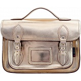 Yoshi Dewhurst Metallic Leather Satchel / Small Work Bag