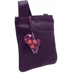 Yoshi Farringdon Heart Charm Across Body Leather Handbag