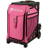 ZUCA Sport Hot Pink Quilted Sit On Rolling Kit Bag (FRAME & INSERT)