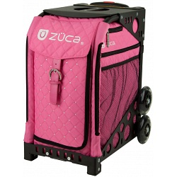 ZUCA Sport Hot Pink Quilted Sit On Rolling Kit Bag (FRAME &amp; INSERT)