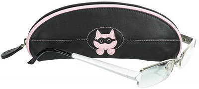 Ciccia Cat With Glasses Leather Spectacles / Glasses Case
