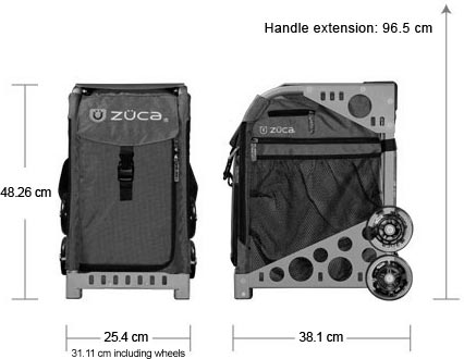 Zuca Sport Dimensions